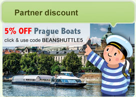 Prague boat cruise discount coupon: BEANSHUTTLE5